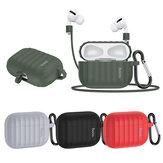 HOCO 3 в 1 Pure Armor Soft Жидкость Силиконовый Ударопрочный пылезащитный Наушник Хранение Чехол с анти-потерянным Веревка и Крюк для Apple Airpods 3 Airpods Pro