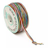 2Pcs DANIU 250M 8-Wire Colored Insulated P/N B-30-1000 30AWG Wire Wrapping Cable Wrap Reel