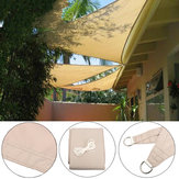 3 x 3 x 3m Waterproof Triangles Outdoor Courtyard Canopy Patio Swimming Pool Gazebo Canopies Shading UV Sunshade Net Awning Home Garden Decor