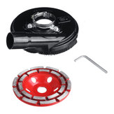 125mm Diamond Grinding Cup Wheel and Universal 5 Inch Angle Grinder Grinding Dust Shroud Tools Kit