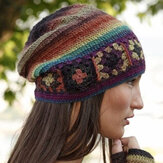 Women's Color-Block Casual Knitted Hats