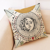 Mandala Tarot Creative Style Linen Throw Pillow Cover Home Office Back Cushion Cover Star Pillow Case