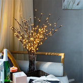 Galho decorativo com 20 LED Night Light Flower Effect Natal Bead Lâmpada de férias para casa