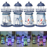 Original              Nautical Decor Shabby Metal Lighthouse Shell Colorful LED Light Home Party Decorations