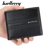 Carterademodadecuerosintético para hombre Baellerry con 6 tarjetas