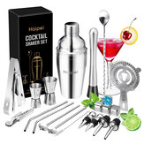 22PCS / Set Cocktail Shaker Boston Maker Bartender Martini Mixer Making Tool Bar Tools