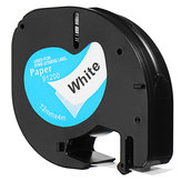 12mmx4m Portable Plastic Label Tape Compatible For DYMO LetraTAG 91200 Black on White