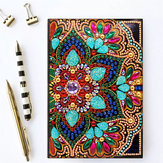 DIY Diamond Painting Embroidery Notebook A5 Notepad Unicorn Butterfly Flower Snow Man Design Special Shaped Hand Paint Leather Cover Cross Stitch Christmas Gifts For Friends