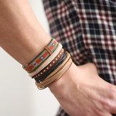 Bracelets occasionnels en cuir multi