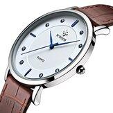 ساعةWWOOR8011رقيقةجداكاجوال جلد حزام للرجال