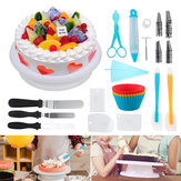 117pcs Cake Decorations Kit Supplies Cake Turntable Spatula Bag Pastry Nozzle Tool Set