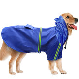 PU Pet Clothes Reflective Strip Dog Raincoat Waterproof Rain Coat With Hood For Hunting Dog