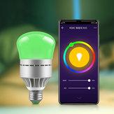 AC100-264V E27 9W RGBW RGBCW WIFI Intelligent LED Ampoule Travail Avec Commande Vocale pour la Maison Salon Lampe de Table