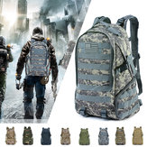 45L Waterproof Camping Hiking Bag Army Military Tactical Backpack Sports Traveling Bag