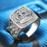European And American Explosion Crown Retro Ring