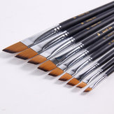 BGLN 802 9 Adet / takım Nylon Saç Akrilik Yağ Boyama Fırça Eğik Boya Fırçalar Suluboya Fırça Kalemler Okul Sanat Boyama Malzemeleri