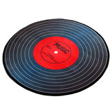 Music Vinyl Record Printed Round Carpet Soft Carpets For Living Room Anti-slip Rug Chair Floor Mat