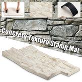 スレートシームレステクスチャポリウレタンスタンプマットコンクリートセメント石壁マットセメントレンガ型