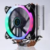 وحدة المعالجة المركزية Cooler 4 Heatpipes 5 ألوان 120 مم LED RGB مروحة تبريد LGA 775 / 115X // 1366 AMD