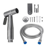 Portable Brass Toilet Handheld Bidet Shower Spray Shattaf Kit Cleaning Sprayer w/ Diverter