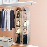 Afneembare niet-geweven stoffen kleding Opknoping kledingkast kast tas opgeruimd organisator opslag