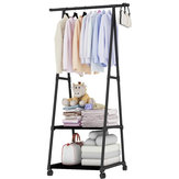 Clothes Hanger Organizer Portable Floor Display Shelf Rack Garment Satnd