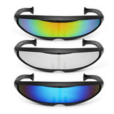 Party Glasses Novelty Futuristic Cyclops Mirrored Sunglasses Monoblock Alien