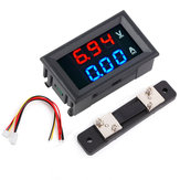 5pcs 0.56 Inch Blue Red Dual LED Display Mini Digital Voltmeter Ammeter DC 100V 50A Panel Amp Volt Voltage Current Meter Tester