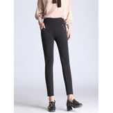 Hohe Taille Stretch Pencil Pants