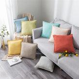 Almofada de linho Caso Cushion Cover Sofa Sofa Waist Caso Decoração do quarto de casa