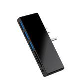 ROCKETEK SGO771 Surface GO Hub 3 * USB 3.0 Hubs SD Card Reader Surface GO Adapter with 2 SD Card Slots 3.5mm Audio Port