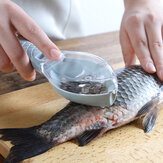 Fish Scales Removing Tool with Cover Kitchen Scale Scraper Manual  Fish Scale Tool