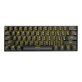 Royal Kludge RK61 bluetooth Wired Dual Mode 60% Golden/ Ice Blue Backlit Mechanical Gaming Keyboard