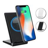 Bobinas duplas Type-C 15W Qi Carregador sem fio de carregamento rápido Suporte de telefone de mesa para smartphone compatível com Qi iPhone XS Max Samsung Galaxy S10 + Não original