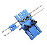Drillpro 08450 Aluminum Alloy Dowelling Jig Set Wood Dowel Drilling Position Jig Woodworking Tool