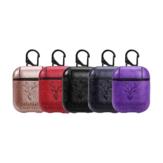 Bakeey Portable PU δέρμα Earphone Προστατευτική θήκη με γάντζο για μήλο AirPods 1 2
