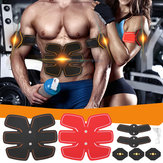 Unisex Abdominal Toning Arm Muscle Stimulator Belt EMS Training Body Exercise Trainer Toner ABS Fitness Set