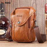 Men Genuine Leather Crossbody Bag Waist Bag