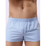 Mens Casual Home Boxers Praia Xadrez Bigode Shorts de impressão Esportes ao ar livre Pijamas