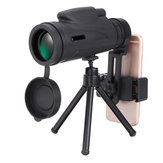 50x60 Magnification HD BAK4 Roof Prism 1500M/9500M Portable Monocular Telescope+Tripod+Phone Clip