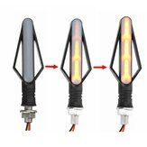 Universal Motorcycle 2 PCS Turn Signal Flowing Lights Waterproof LED Indicator