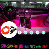 DC12V 5M Flexible Neon EL Wire LED Strip Light Car Interior Decoration Lamp + Driver