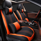 Wear-Resistant Leather Universal 5 Seat Car Seat Covers Cushion Set 3D Full Surround Design