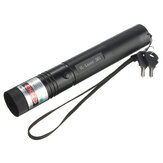 10 Mile 532nm Green Laser Pointer Pen PPT Laser Page Pen Light Juster 5mw + 18650 Batterioplader