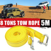 5M Car Traction Rope Car Emergency Trailer W / Car Tow Winch Rope 16000KG Tow