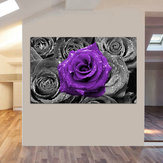 Abstract Modern Paars Rose Bloemen Canvaskunst Schilderijen Foto Print Olie Home Wall Decor Unframed