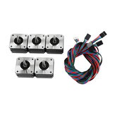 5Pcs 17HS4023 42*42*23mm Stepper Motor with Cable for 3D Printer Part