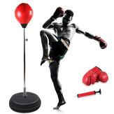 120-150см Регулируемая тренировочная мишень для бокса Отдельно стоящий удар Сумка Взрослые Бокс Вернуться База Перчатки Насос