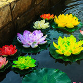 18cm Floating Artificial Lotus for Aquarium Fish Tank Pond Water Lily Lotus Flower Home Decorations