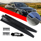 2 X Universal Gloss Black Or Carbon Fiber Style Car Side Skirt Rocker Splitters Canard Diffuser Winglet Wings